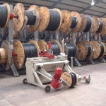 Live drum racking for Autoreel cable winding machine